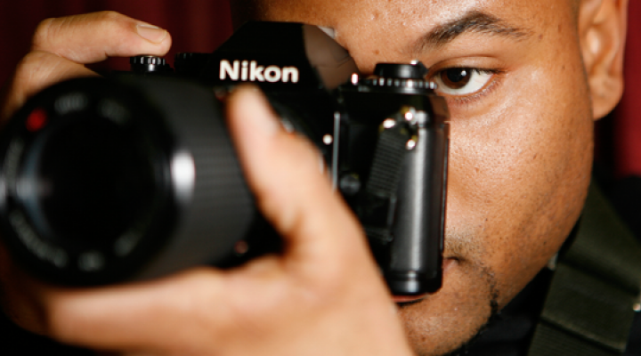 Photo student with camera